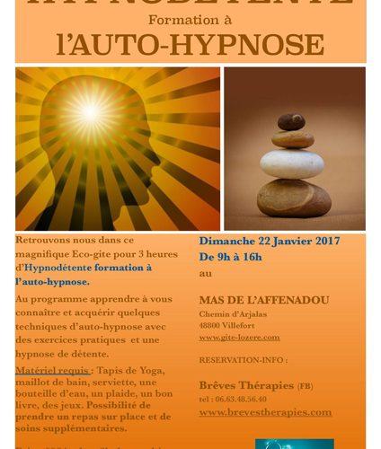 Hypnodétente formation à l'auto-hypnose à Villefort