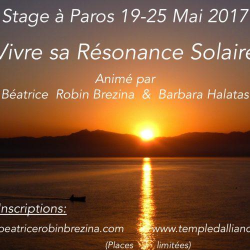 Stage initiatique 19-25 mai 2017 à Paros, vivre sa résonance solaire
