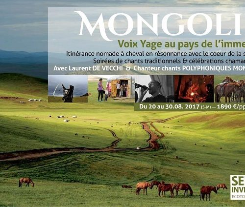 Mongolie :  Laurent De Vecchi et Chanteur chants polyphoniques mongols