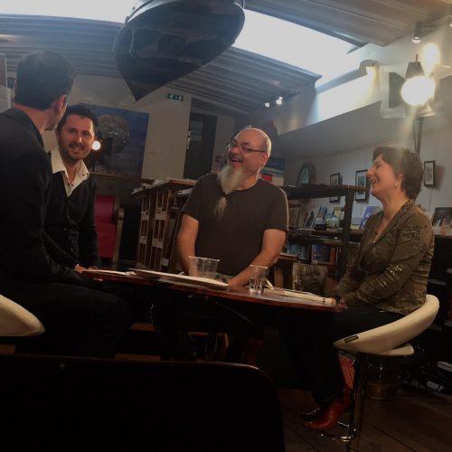 Julien Peron sur le plateau TV de l'Inrees