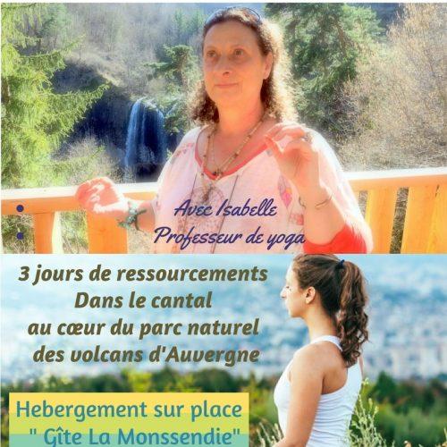 Retraite yoga » Conscience du corps et de l'alimentation, étude des Panchas Vayus et la quintessence du Souffle, pranayama et méditation».