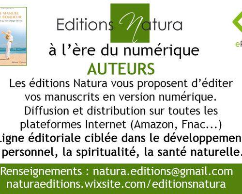 Les éditions numériques Natura