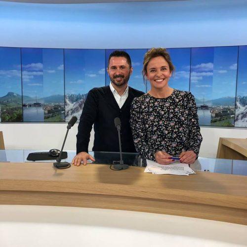 Julien Peron et Pauline Alleau sur France 3 pour le film C'est quoi le bonheur pour vous?