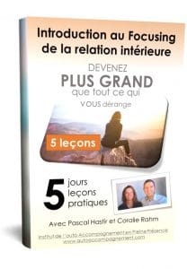 Cours gratuit d'introduction au Focusing de la relation intérieure en 5 jours, 5 leçons, 5 pratiques et 5 webinaires live