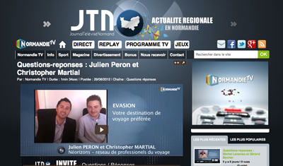 Questions-reponses : Julien Peron et Christopher Martial – Normandie TV