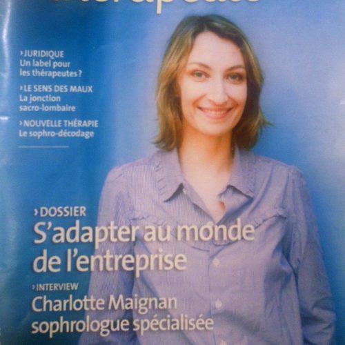 Neo-bienêtre dans le magazine Profession Thérapeute de décembre 2012