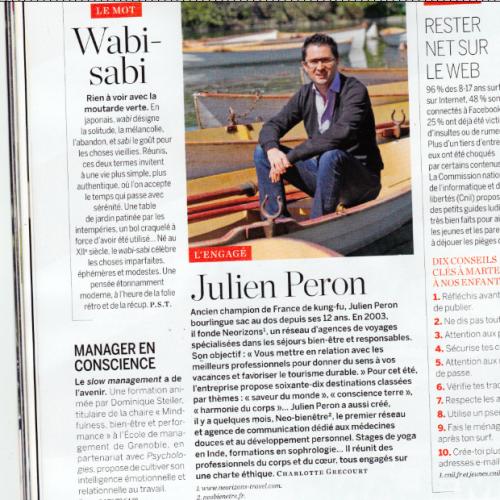 Julien Peron interviewé par Psychologies Magazine – Juin 2013