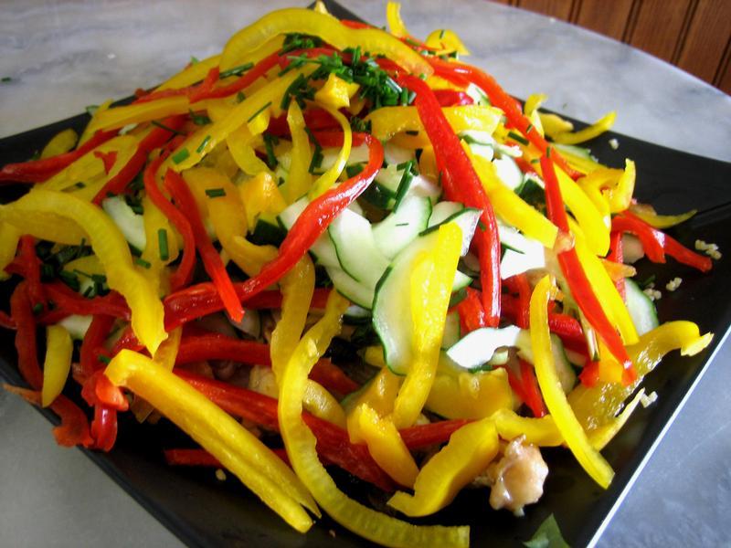 Recette bien tre v g tarienne salade de boulgour aux poivrons grill s neo bien tre - Salade de poivron grille ...