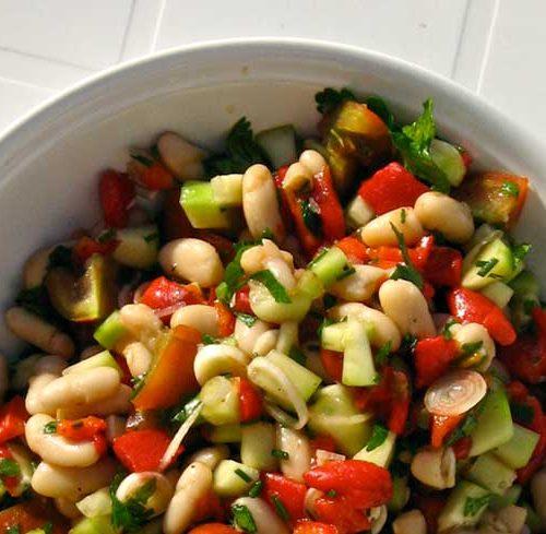 Recette végétarienne-Haricots cornilles et poivron rouge mijotés