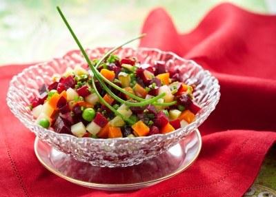 Recette végétarienne-Salade de betteraves à la russe