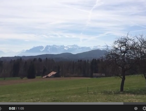 Méditation en campagne Suisse