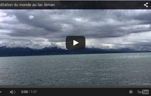 Méditation du monde au lac léman