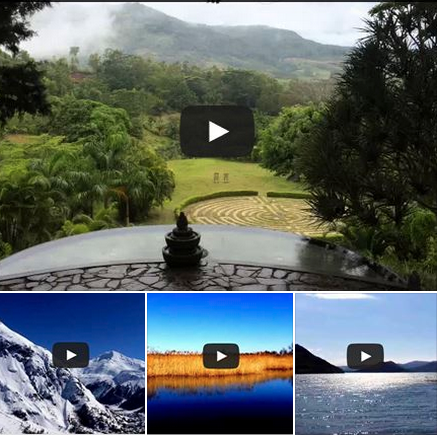 Vidéos de méditations contemplatives dans le monde
