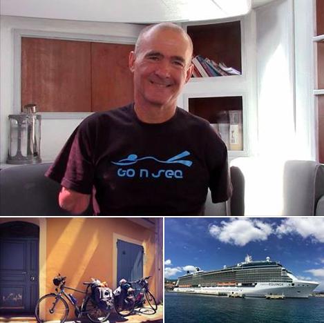 Thierry Corbalan, l'homme dauphin, vélo, yoga et méditation en Corse