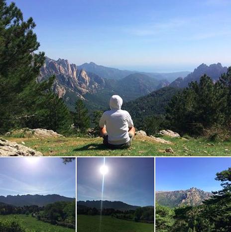 Vélo, yoga, méditation et bonheur en Corse