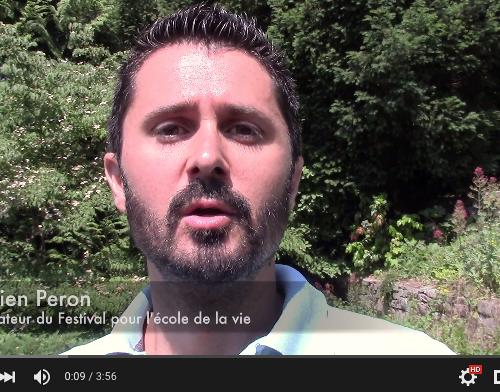 Julien Peron pour le festival de l'école de la vie Neo-bienêtre