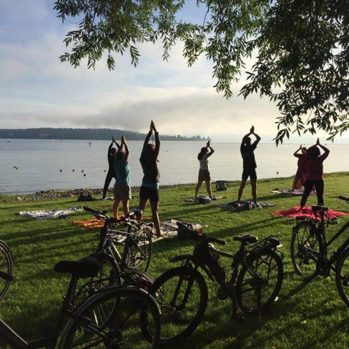 Retour du séjour vélo, yoga et méditation au lac de constance