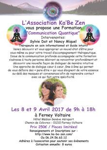 Formation en Communication Quantique les 8 et 9 avril 2017 Ferney-Voltaire