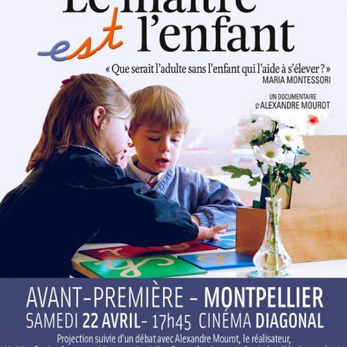 Julien Peron débat Projection du film Le maitre est lenfant à Montpellier