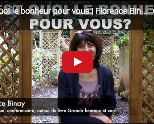 C'est quoi le bonheur pour vous | Florence Binay | Tour du monde du bonheur