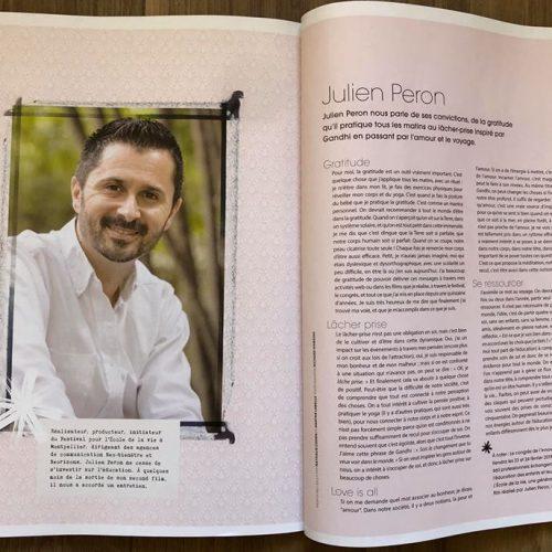 Portrait de Julien Peron dans Happinez n°38
